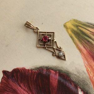 Sale! Antique Ruby Pendant